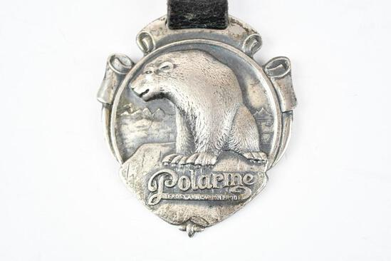 Polarine Motor Oil Company Metal Watch Fob