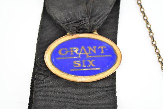 Grant Six Automobile Company Enamel Metal Watch Fob