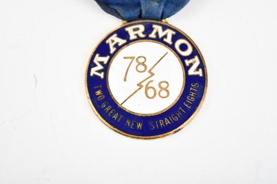 Marmon Automobile Enamel Metal Watch Fob
