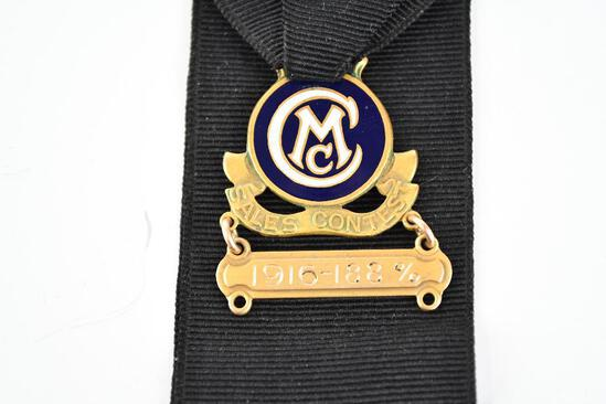 Chalmers Motor Co. Enamel and Metal Watch Fob