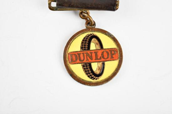 Dunlop Tire Company Enamel Metal Watch Fob