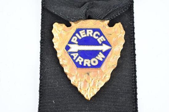 Pierce Arrow Enamel Metal Watch Fob