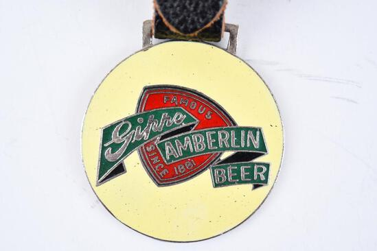 Gipps Brewing Corp. Enamel Metal Watch Fob