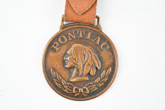 Pontiac Automobile Metal Watch Fob