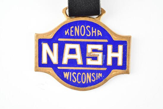 Nash Automobile Enamel Metal Watch Fob