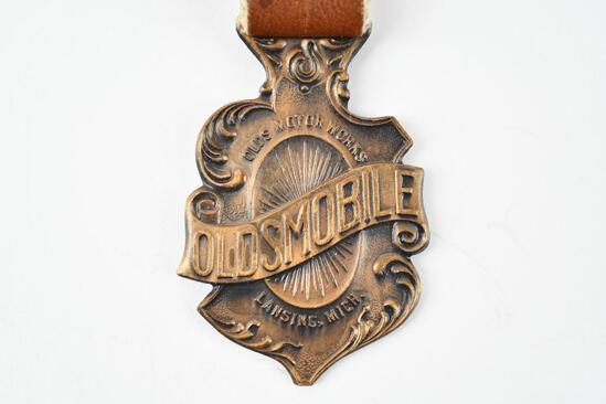 Oldsmobile Automobile Metal Watch Fob