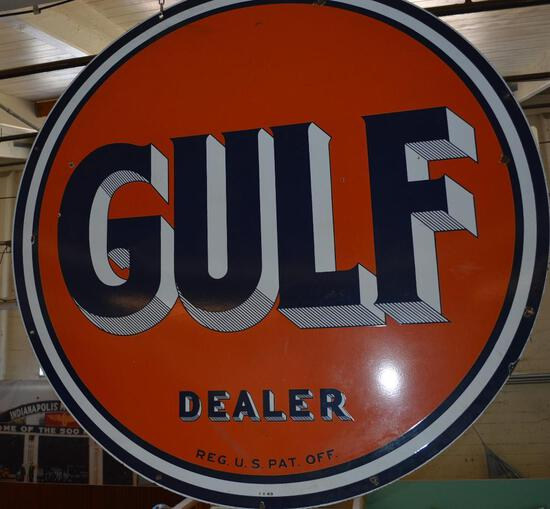 Gulf Dealer w/striped letters ID Sign (TAC)
