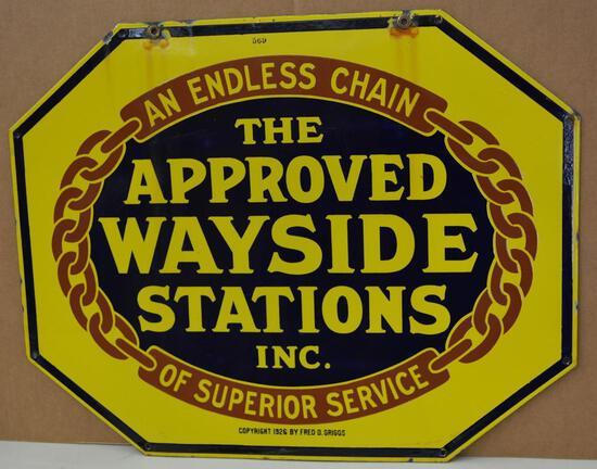 Approved Wayside Stations Porcelain Sign (TAC)
