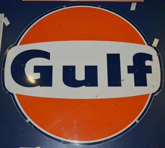 Gulf w/ wings ID Porcelain Sign (TAC)