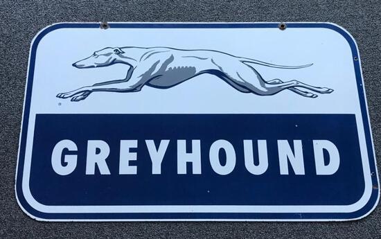 Greyhound w/ logo Porcelain sign (TAC)