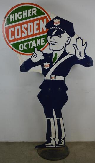 Cosden Higher Octane Policeman Sign (TAC)