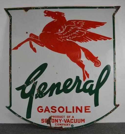 Rare General Gasoline (green) Pegasus Sign (TAC)