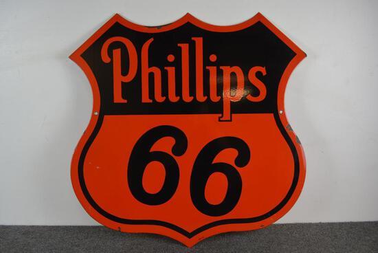 Phillips 66 (orange & black) Porcelain sign (TAC)
