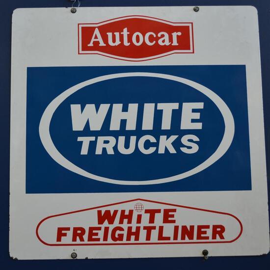 White Autocar Freightliner Trucks Sign (TAC)