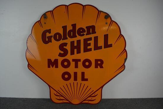 Golden Shell Motor Porcelain Sign (TAC)