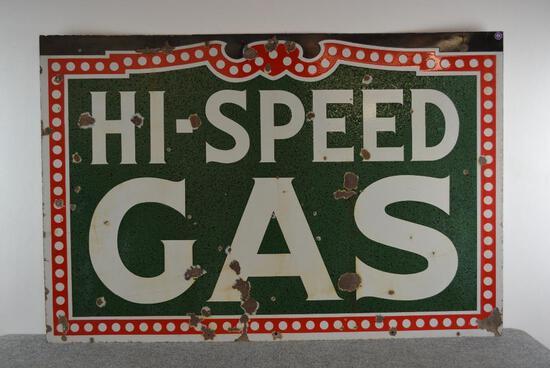 Hi-Speed Gas Porcelain ID Sign (TAC)