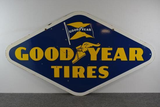 Goodyear Tires w/both logo Porcelain Sign (TAC)