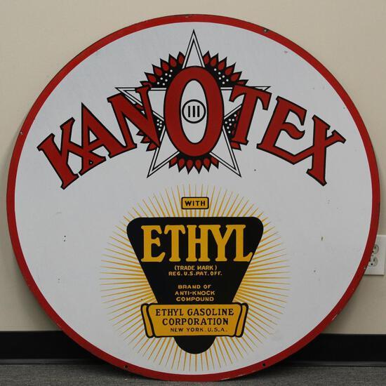 (updated) Kanotex w/ethyl logo Porcelain Sign (TAC)