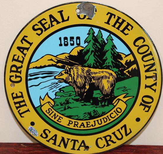 Santa Cruz County Great Seal Truck Door Sign (TAC)