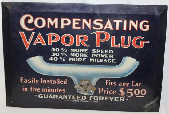 Original Compensating Vapor Plug Metal Sign (TAC)