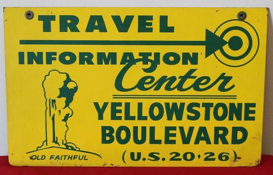 Yellowstone Boulevard Travel Information sign