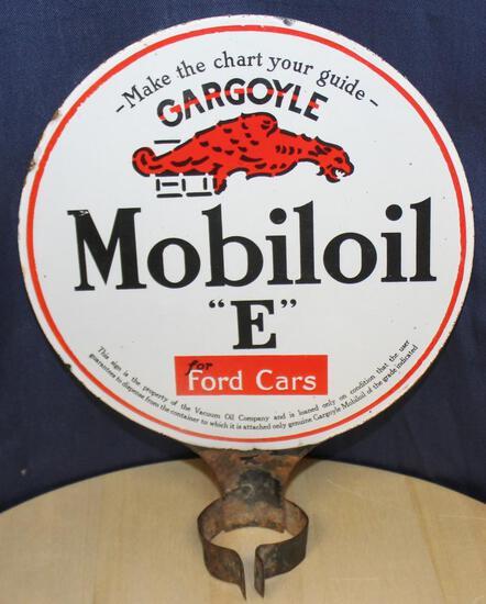 Mobil oil gargoyle ?E? For Ford cars sign