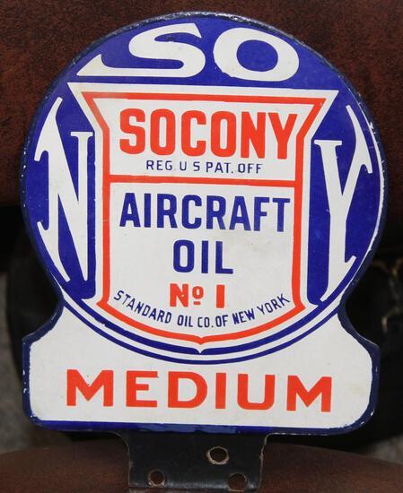 Socony Standard of NY aircraft oil medium No1 Sign