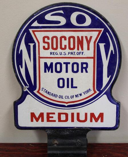Socony Standard of NY medium motor oil sign (TAC)