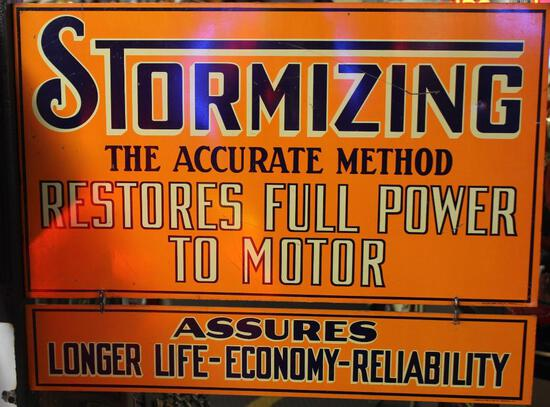 """Stormizing """"Restore Full Power to Your Motor"""" Sign"""