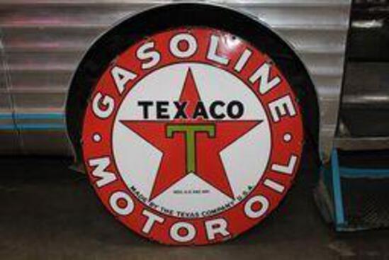 Texaco (black-T) Motor Oil porcelain sign (TAC)
