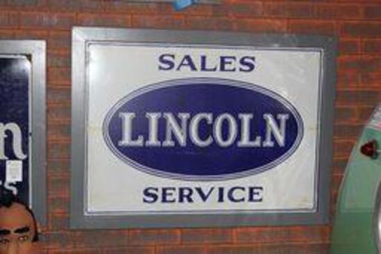 Lincoln Sales & Service Porcelain Sign (TAC)