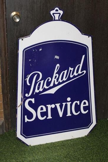 Packard radiator diecut style service sign