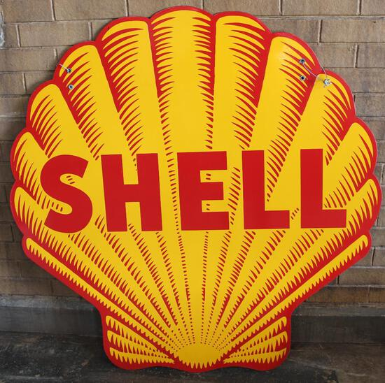 Shell Shark Tooth Style Porcelain Sign (TAC)