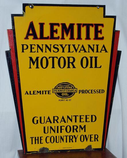 (updated) Alemite Pennsylvania motor oil by Veribrite Signs