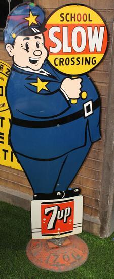 7-up School Crossing Guard Metal Signs (TAC)