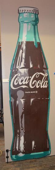 Large Coca-Cola Bottle Metal Sign (TAC)