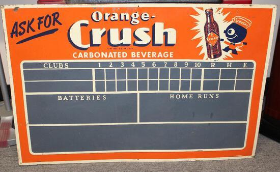 Orange crush soda scoreboard sign (TAC)
