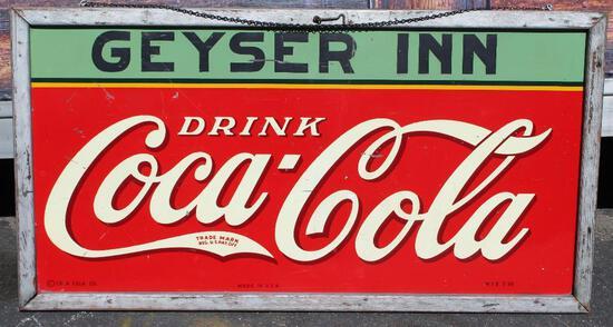 1936 Coca-Cola ?Geyser Inn? advertising sign