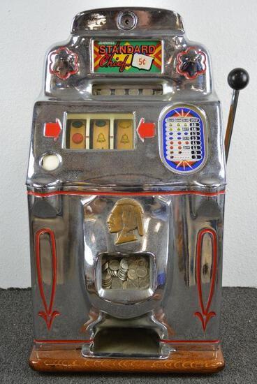 Standard Chief 5 Cent Slot Machine