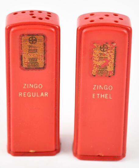 ZINGO Plastic Gas Pump Salt & Pepper Shaker Set