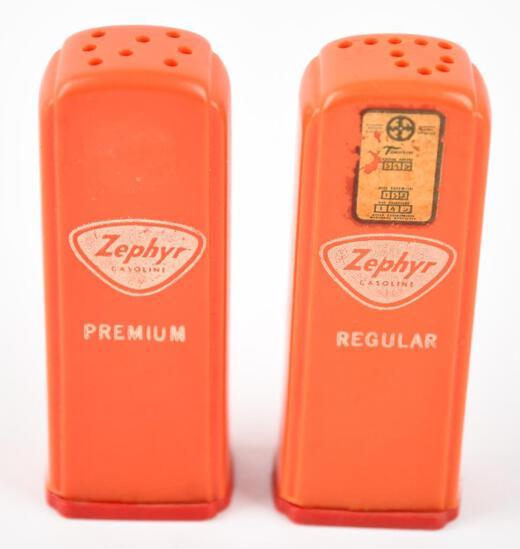 Zephyr Gasoline Plastic Gas Pump Salt & Pepper Shaker Set