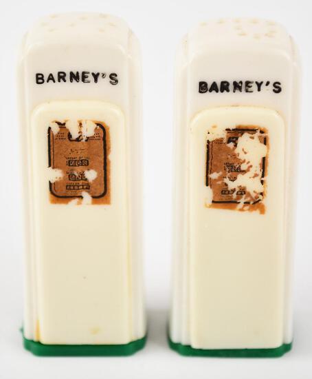 Barney's Plastic Gas Pump Salt & Pepper Shaker Set