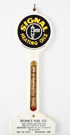 Signal Heating Oils w/logo Plastic Pole Thermometer