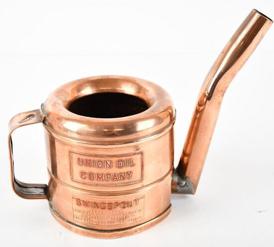Swingspout Union Oil Company One Pint Copper Oil Dispencer