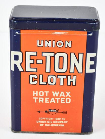 Union Re-Tone Clock Hot Wax Treated Metal Can
