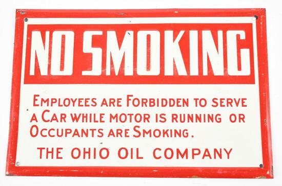 (Marathon) The Ohio Company No Smoking Metal Sign