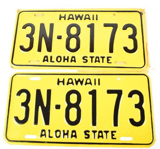 Pair of 1969 NOS Hawaii License Plates
