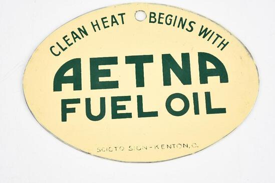 Aetna Fuel Oil Metal Sign