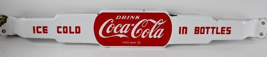 Drink Coca-Cola Ice Cold In Bottles Porcelain Door Push Sign