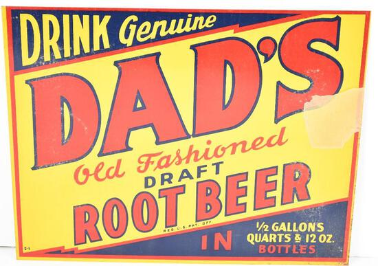 Drink Genuine Dad's Old Fashioned Draft Root Beer Metal Sign